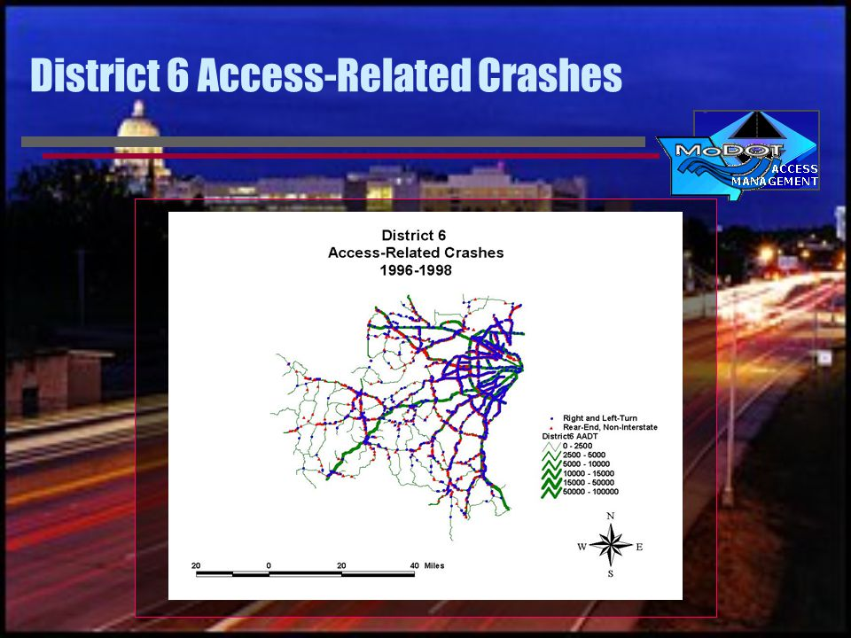 District 6 Access-Related Crashes