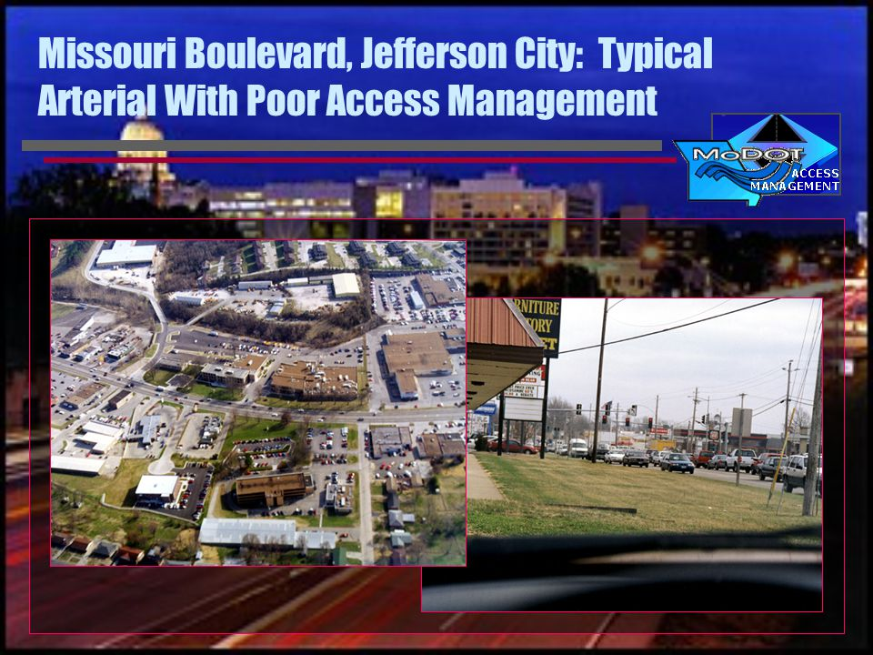 Missouri Boulevard, Jefferson City: Typical Arterial With Poor Access Management