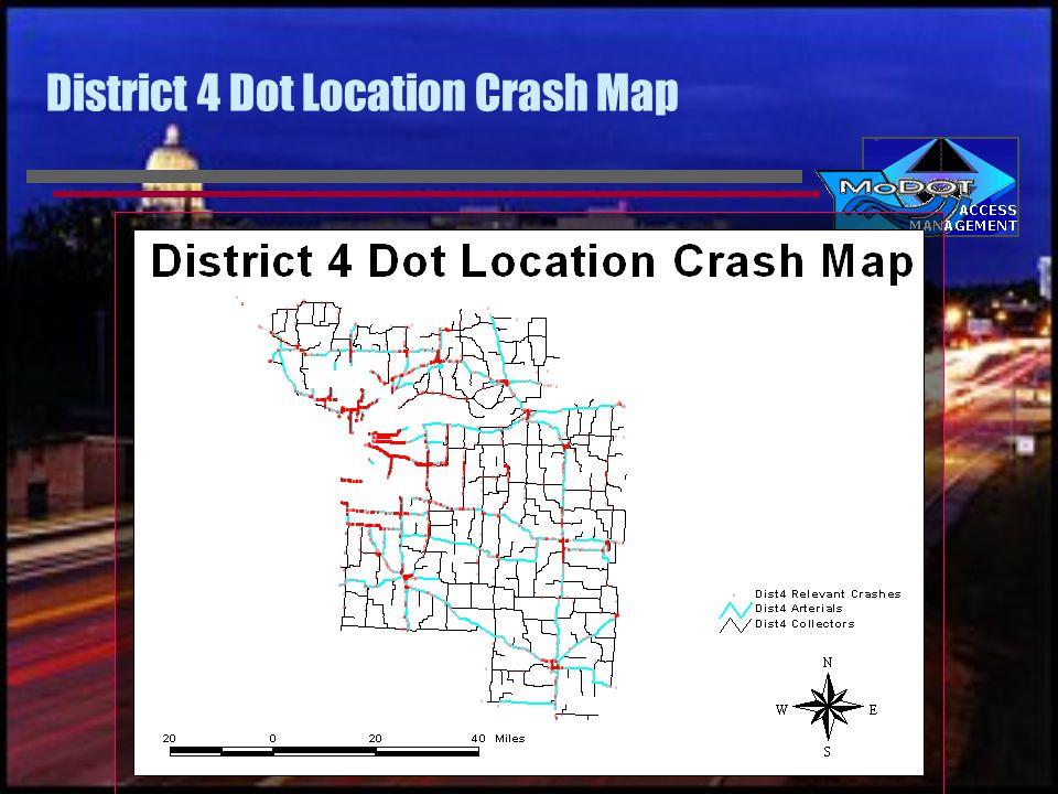 District 4 Dot Location Crash Map