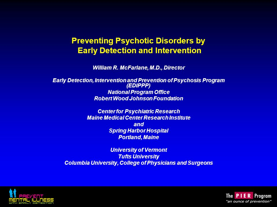 Key clinical strategies in family intervention specific to prodromal psychosis Strengthening relationships and creating an optimal, protective home environment: –Reducing intensity, anxiety and over-involvement –Preventing onset of negativity and criticism –Adjusting expectations and performance demands –Minimizing internal family stressors Marital stress Sibling hostility Conceptual and attributional confusion and disagreement