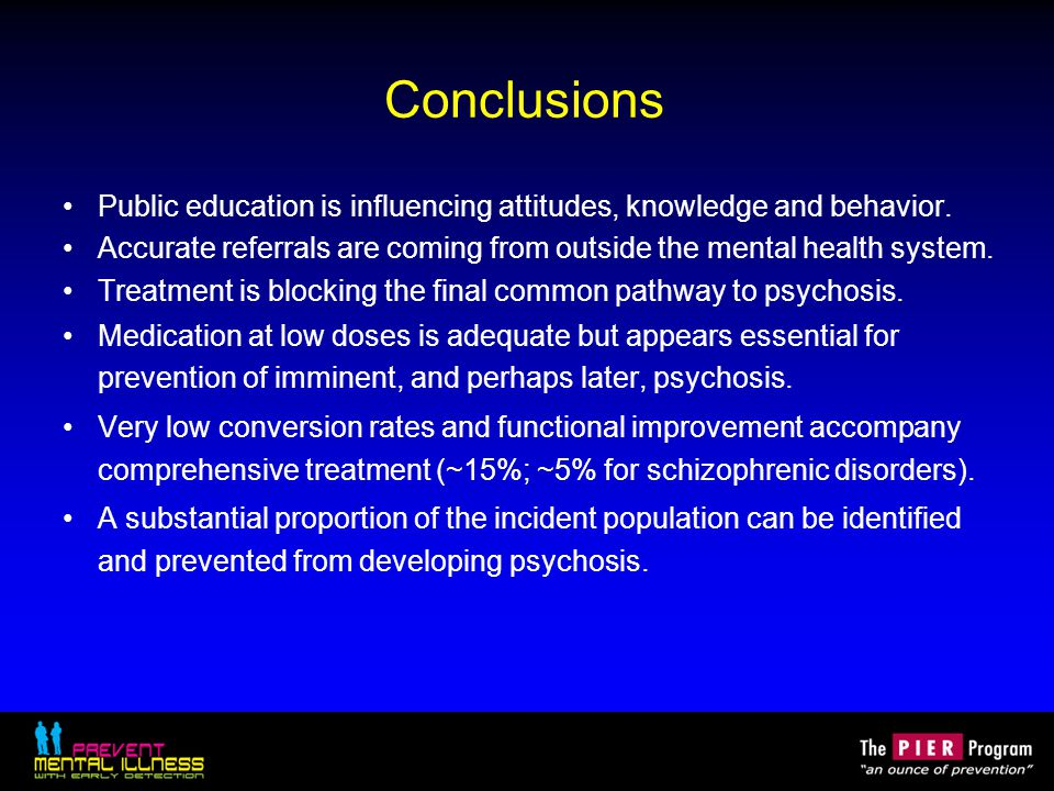Conclusions Public education is influencing attitudes, knowledge and behavior.