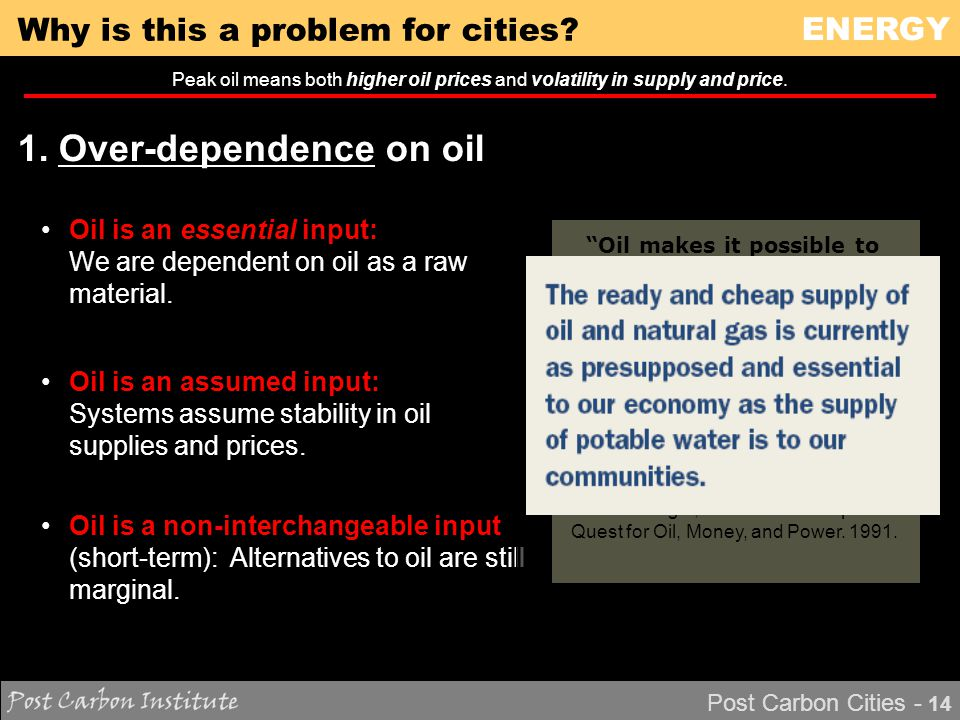 ENERGY Post Carbon Cities - 14 Why is this a problem for cities.