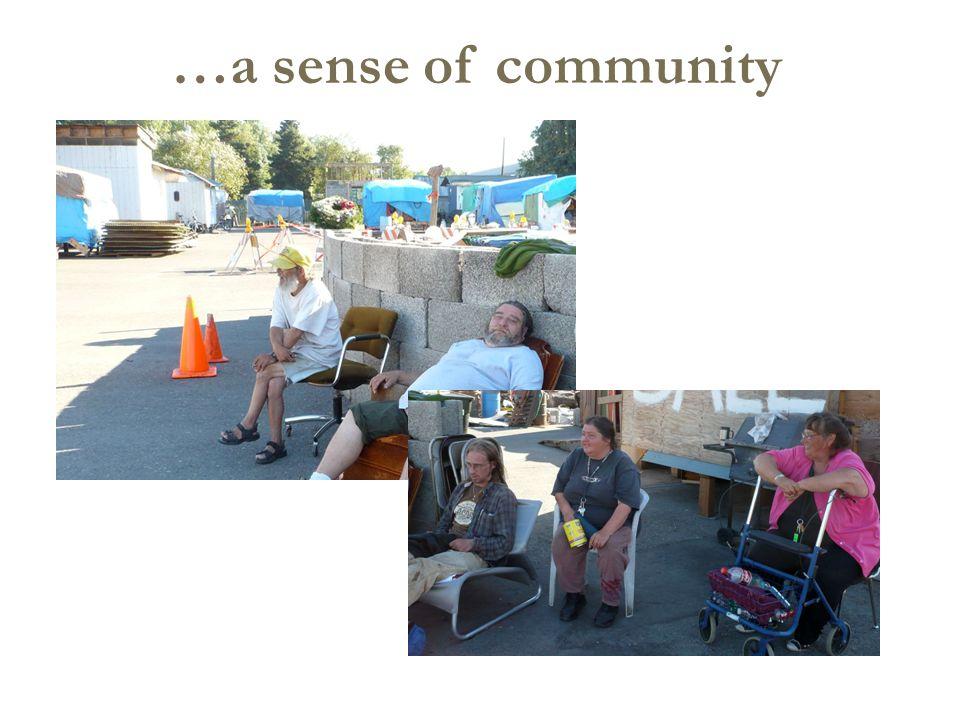 …a sense of community