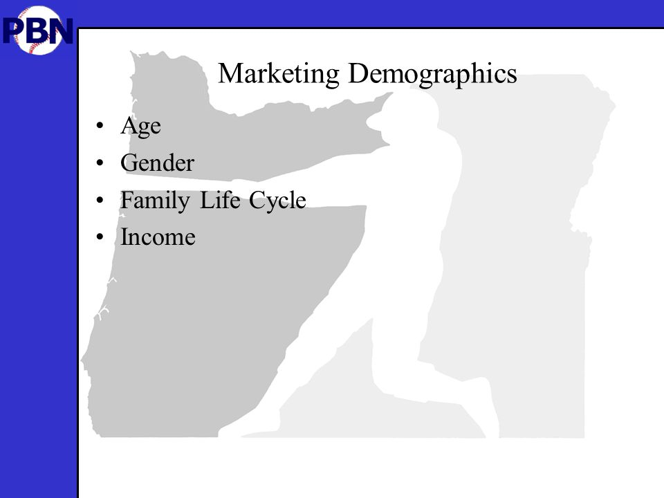 Marketing Demographics Age Gender Family Life Cycle Income
