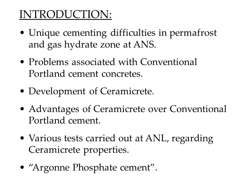 Problems associated with current formulation of Phosphate cement: (@ Tomball meeting) 1.Failure in consolidation test.