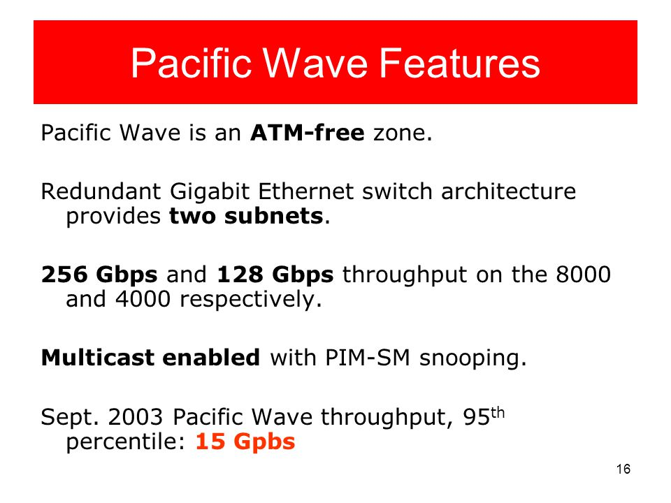 16 Pacific Wave Features Pacific Wave is an ATM-free zone.