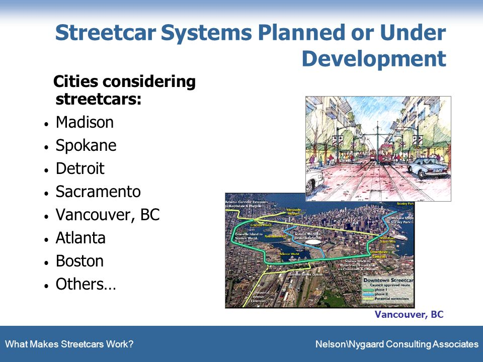 What Makes Streetcars Work.