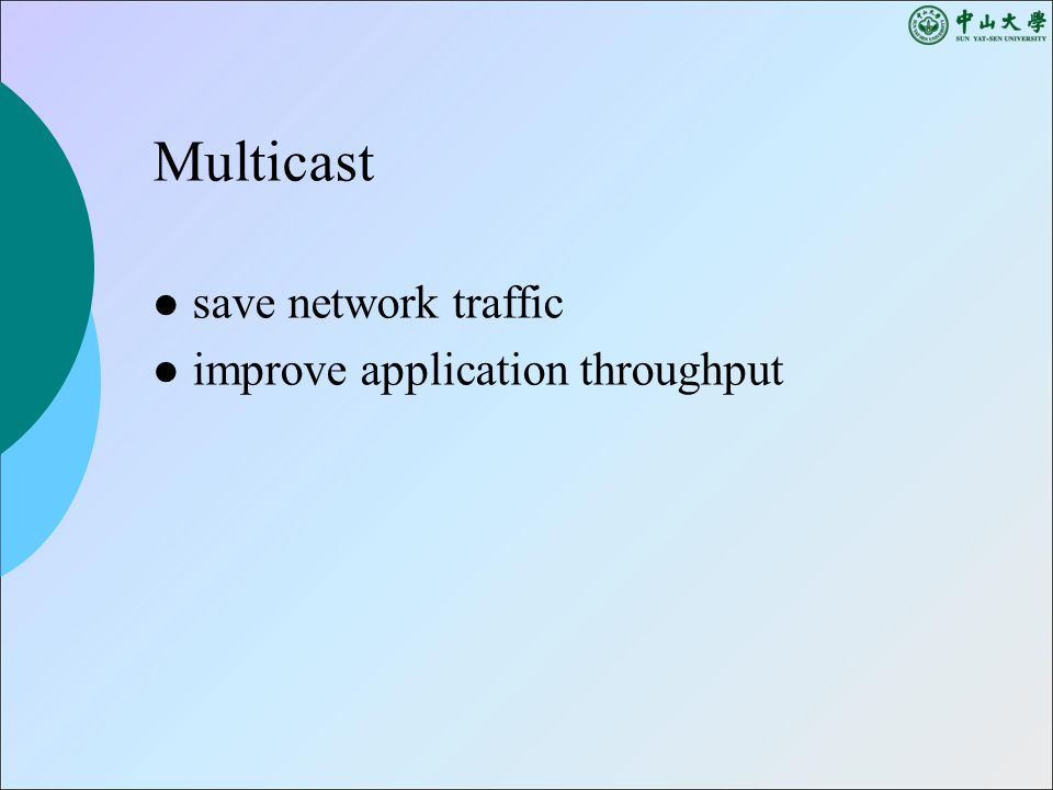 Multicast save network traffic improve application throughput