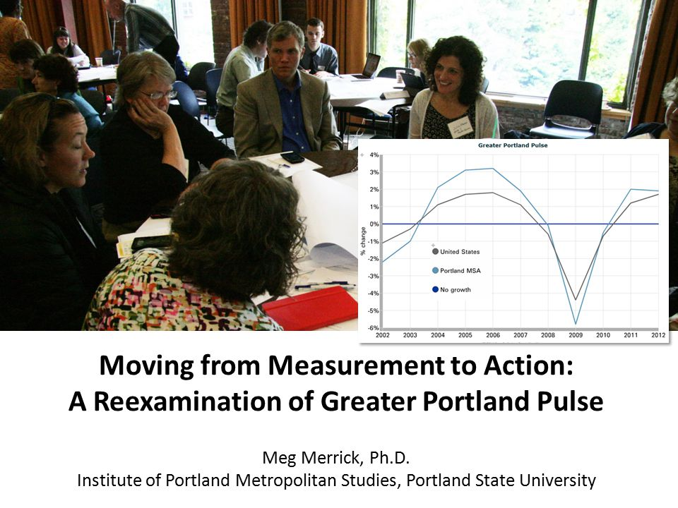 Moving from Measurement to Action: A Reexamination of Greater Portland Pulse Meg Merrick, Ph.D.
