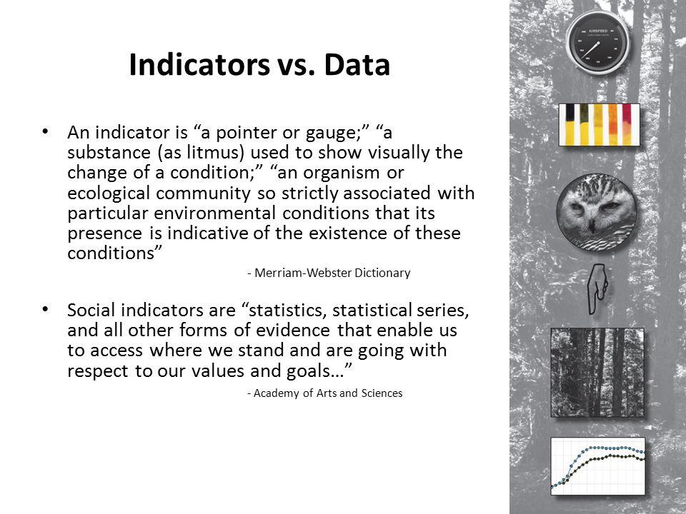 Indicators vs.