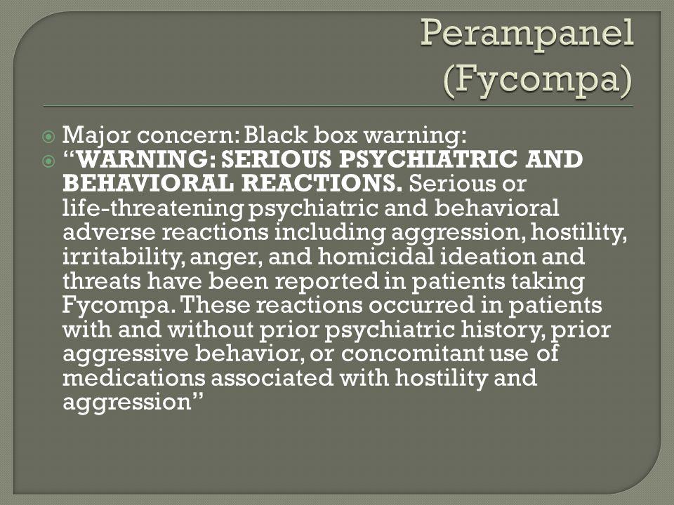  Major concern: Black box warning:  WARNING: SERIOUS PSYCHIATRIC AND BEHAVIORAL REACTIONS.