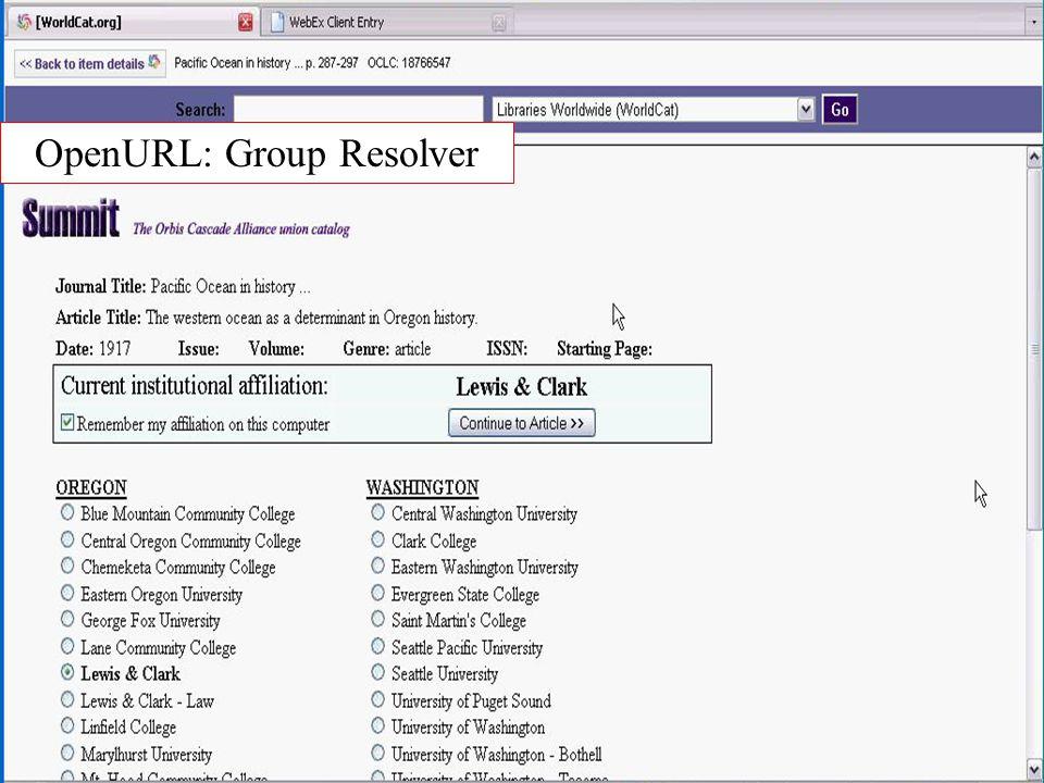 OpenURL: Group Resolver