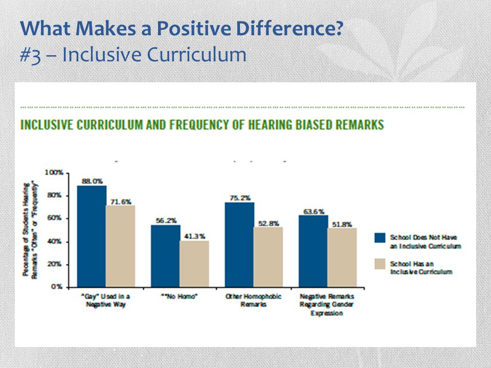 What Makes a Positive Difference? #3 – Inclusive Curriculum