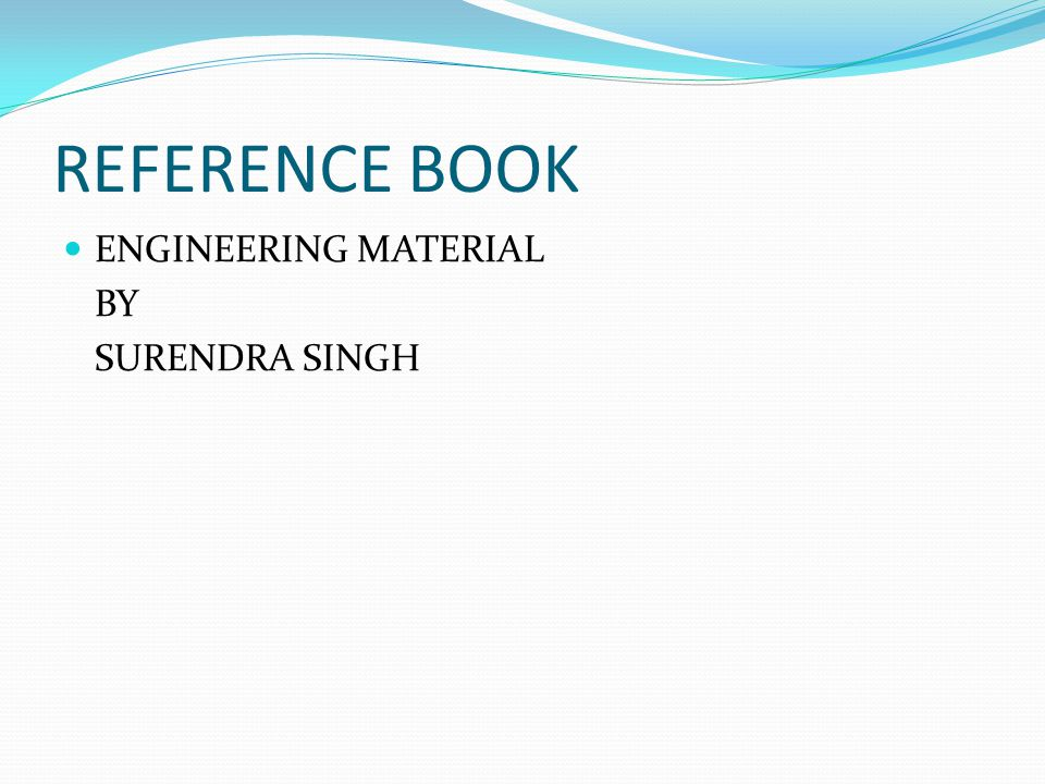 REFERENCE BOOK ENGINEERING MATERIAL BY SURENDRA SINGH