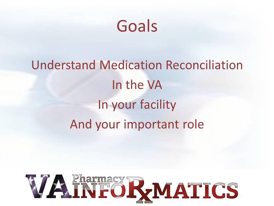 First Thanks!! VA Pharmacy Informatics Taking the Lead