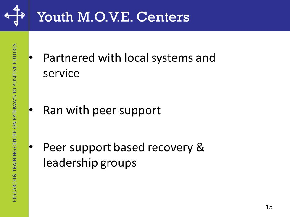 RESEARCH & TRAINING CENTER ON PATHWAYS TO POSITIVE FUTURES Youth M.O.V.E.