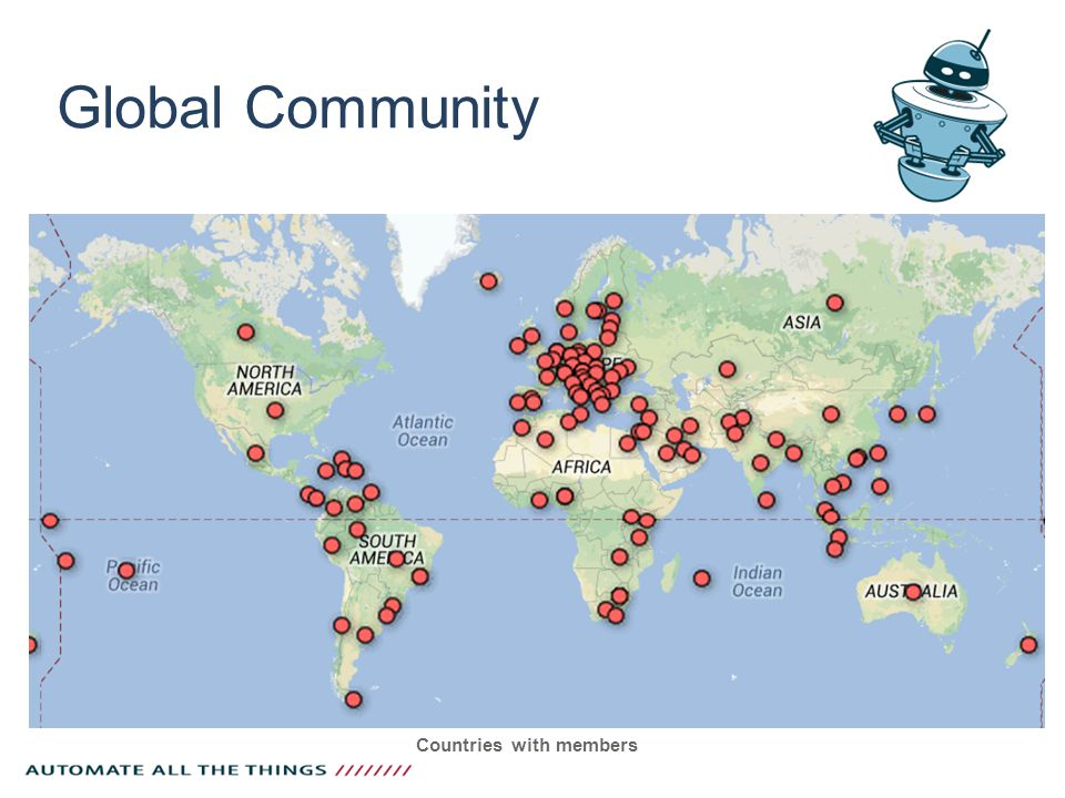 Global Community Countries with members
