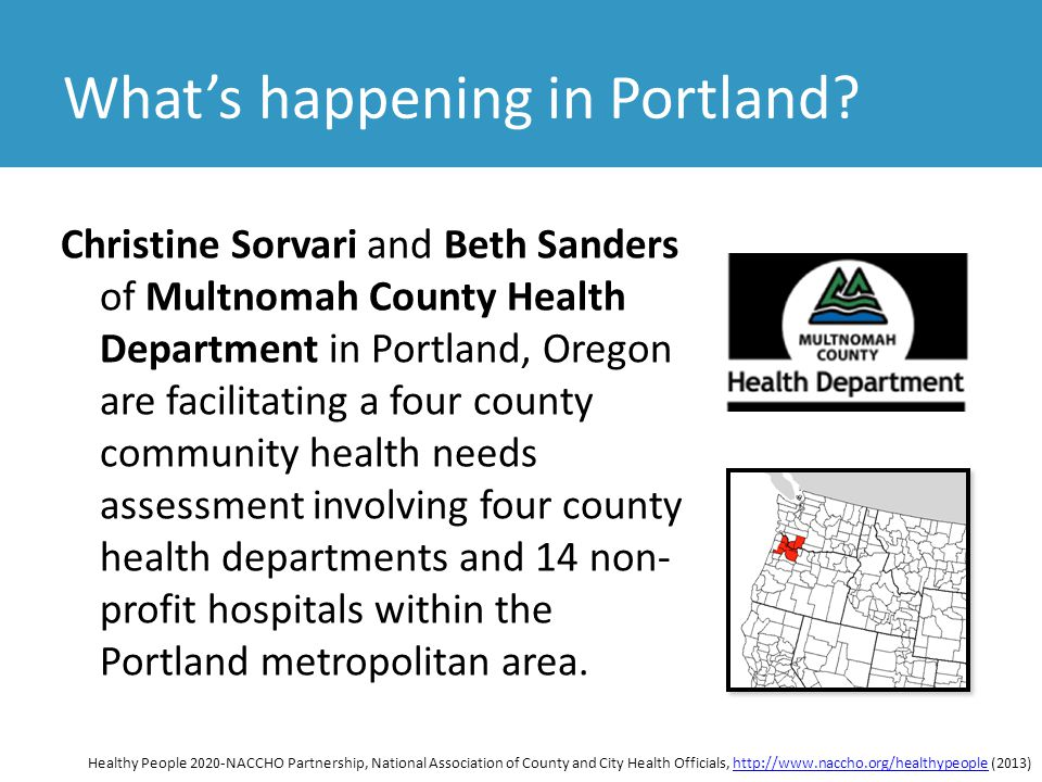 It makes sense to include Clark County in this community health needs assessment since Vancouver, Washington and Clark County are all part of the same metropolitan region around Portland.
