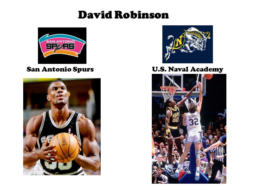 David Robinson San Antonio SpursU.S. Naval Academy