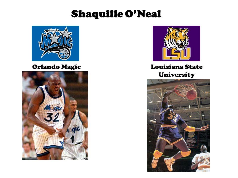 Shaquille O'Neal Orlando MagicLouisiana State University
