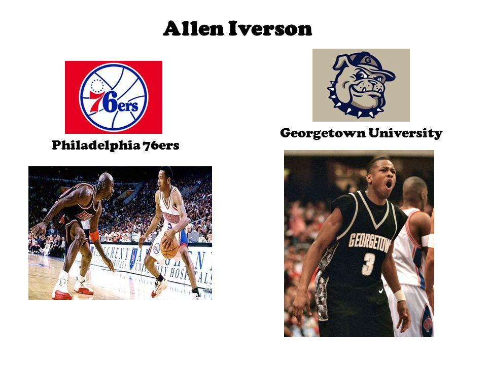 Allen Iverson Philadelphia 76ers Georgetown University