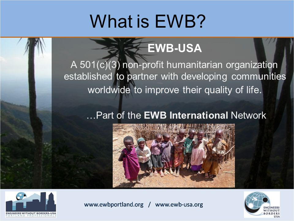 What is EWB.