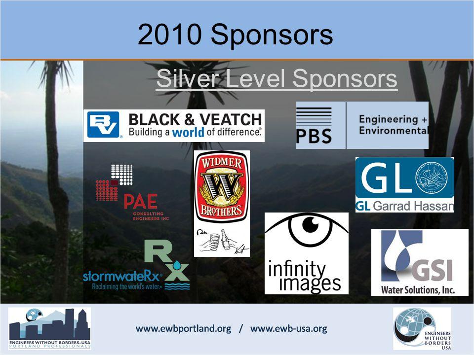 2010 Sponsors Silver Level Sponsors