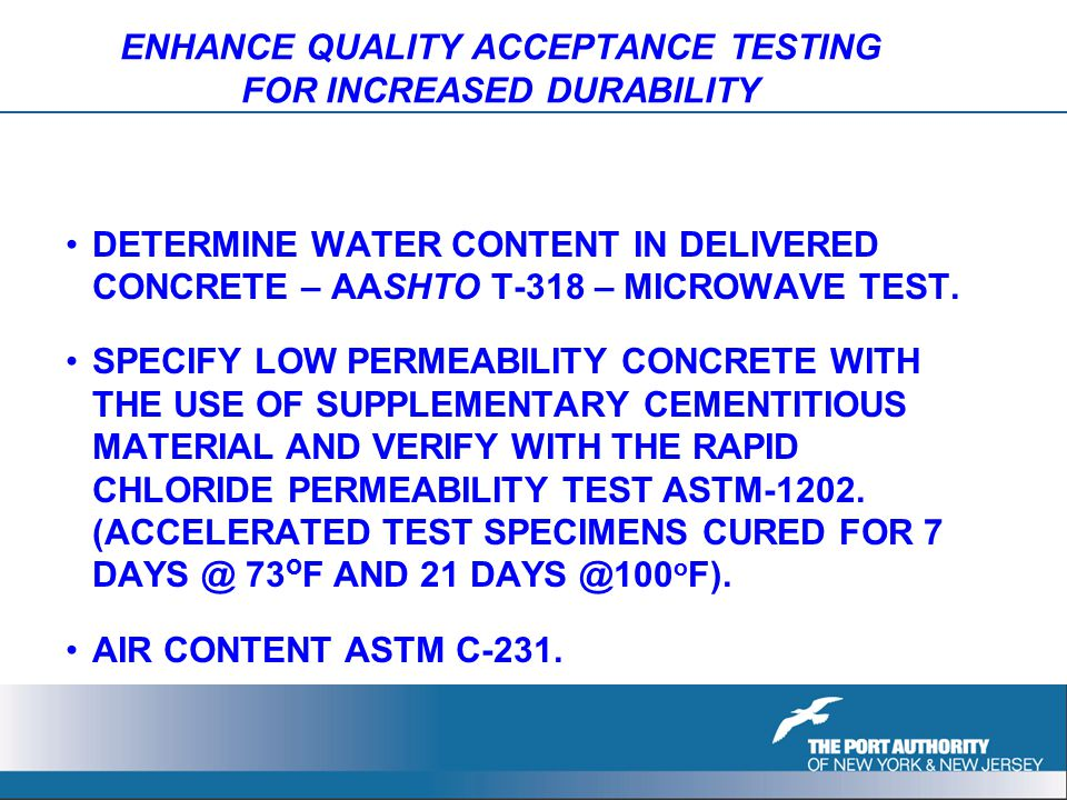 ENHANCE QUALITY ACCEPTANCE TESTING FOR INCREASED DURABILITY DETERMINE WATER CONTENT IN DELIVERED CONCRETE – AASHTO T-318 – MICROWAVE TEST.