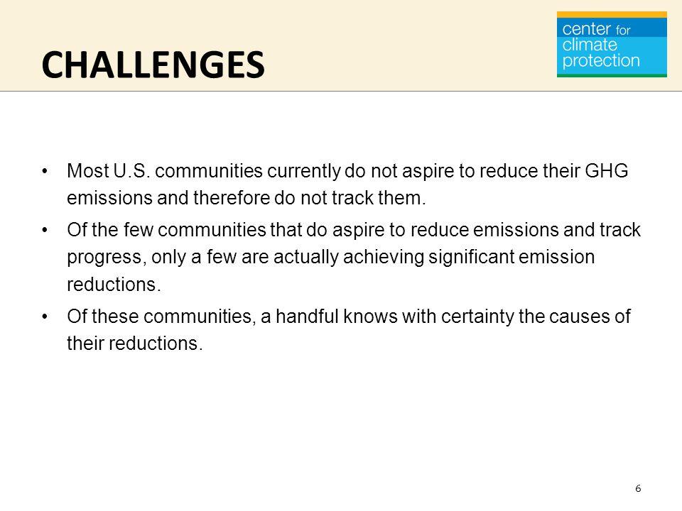 CHALLENGES Most U.S.