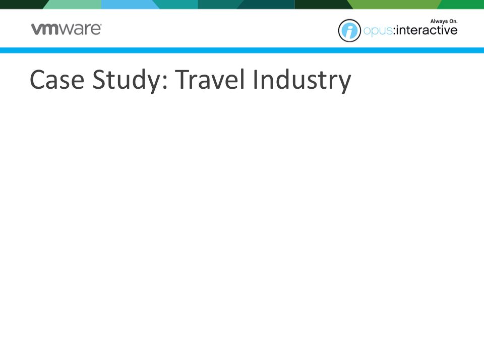 Case Study: Travel Industry The conditions 30 years in business Outgrown solution Critical 24x7 operations Sustainable practices Their needs Secure Building Secure location Dedicated environment Managed Services Critical power Technical support Colocated systems The solution 16 Enterprise HP blade servers 3 dedicated SAN nodes 4 virtual load balancers 4 virtual firewalls Managed Backup Managed Services Bandwidth