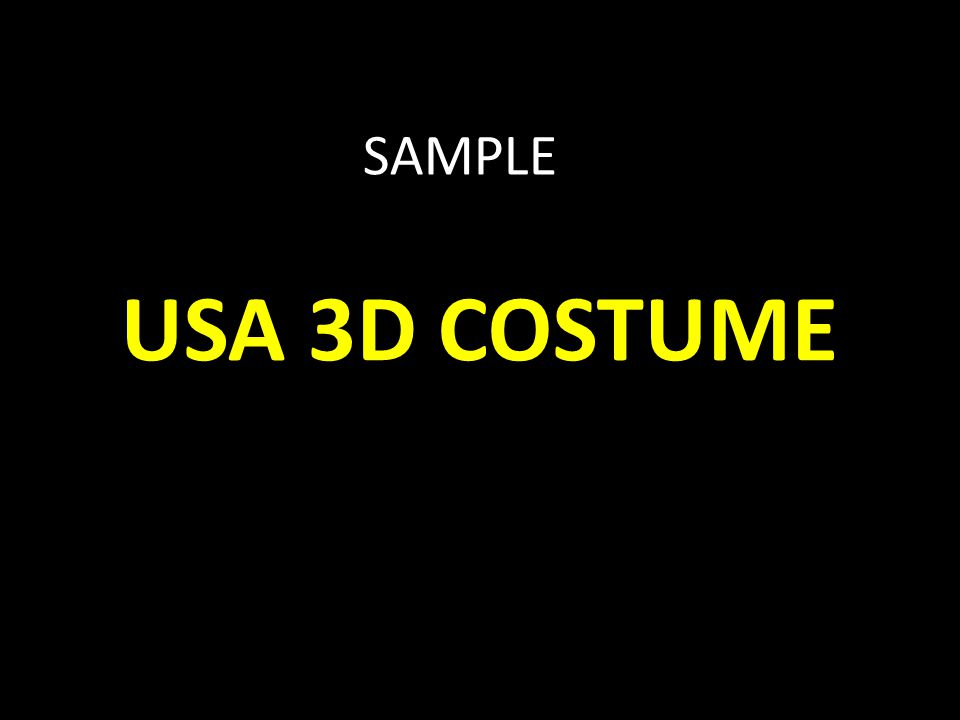 USA 3D COSTUME SAMPLE