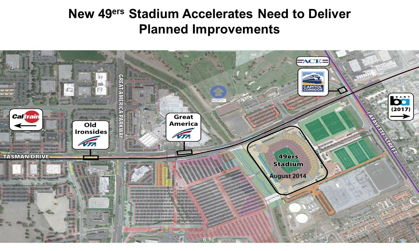 New 49 ers Stadium Accelerates Need to Deliver Planned Improvements Source: 49ers Stadium EIR, 2009/ AECOM, 2012 August 2014 126.3.C