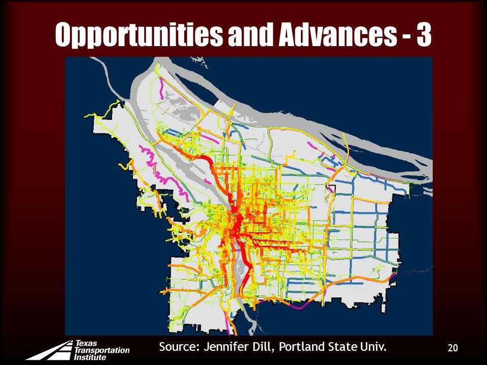 Opportunities and Advances - 3 20 Source: Jennifer Dill, Portland State Univ.
