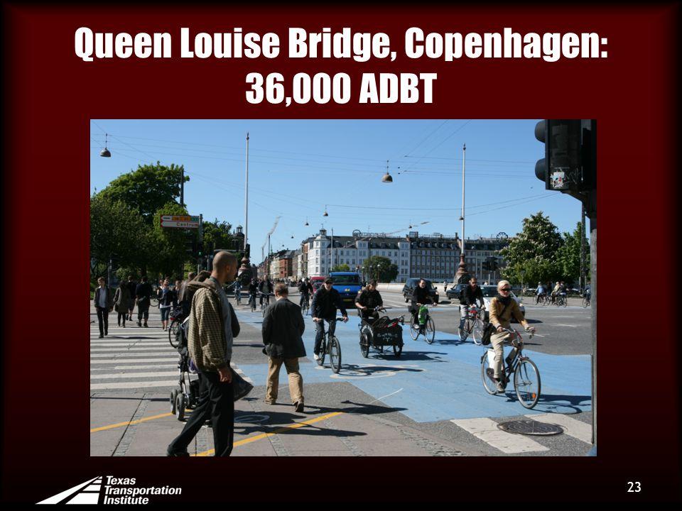 Queen Louise Bridge, Copenhagen: 36,000 ADBT 23