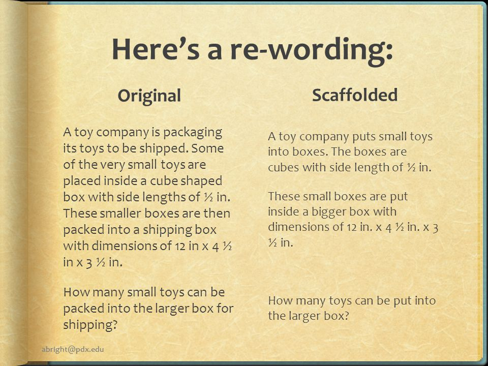 Here's a re-wording: Original A toy company is packaging its toys to be shipped.