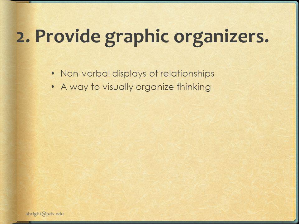 2. Provide graphic organizers.