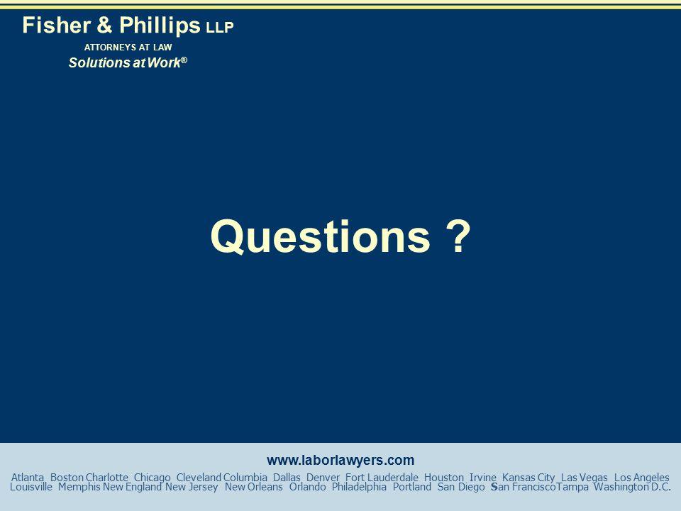 www.laborlawyers.com Questions .