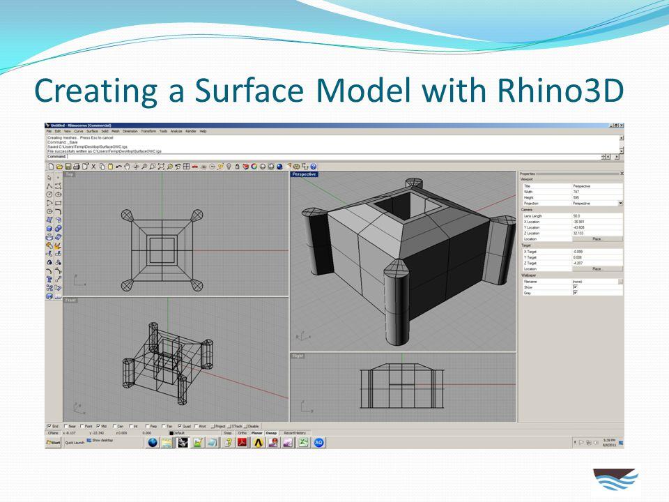 Using ANSYS AQWA for Seakeeping Create MultiSurf/Rhino3D model of R/V Hugh R. Sharp