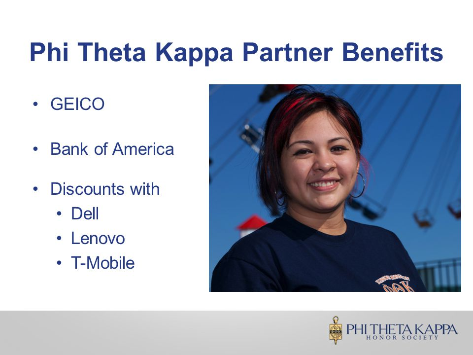 Phi Theta Kappa Partner Benefits GEICO Bank of America Discounts with Dell Lenovo T-Mobile