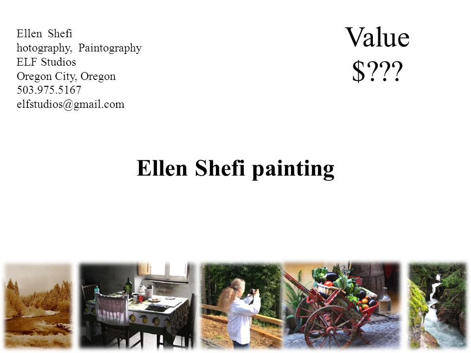 Ellen Shefi painting 15140 SE 82nd Drive Suite 340 Clackamas, OR 97015 info@peoplesherbs.com Value $ .