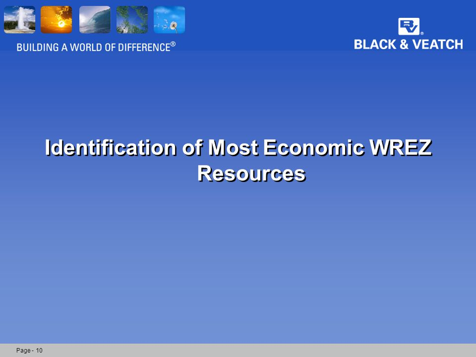 Identification of Most Economic WREZ Resources Page - 10