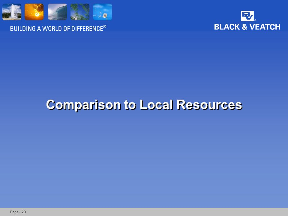 Comparison to Local Resources Page - 20