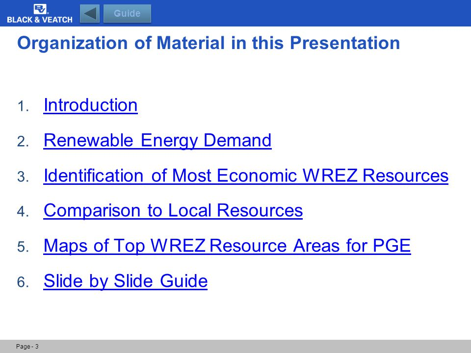 Guide: Most Economic Resource Tables Page - 34 Guide This slide lists all of the individual WREZ resources identified as most economic to meet a 33 percent renewable energy target.