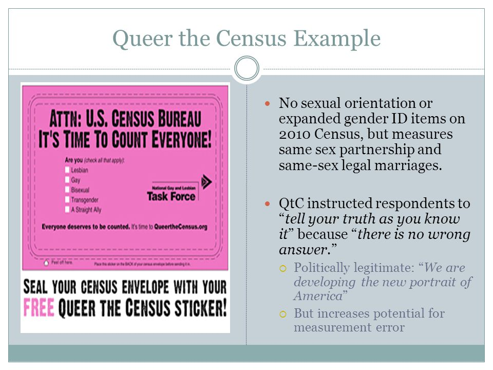 Differences by Gender and/or Sexual Orientation Many statistically significant differences noted between groups, suggesting that there are different health risks and experiences within the community related to gender and sexual orientation.