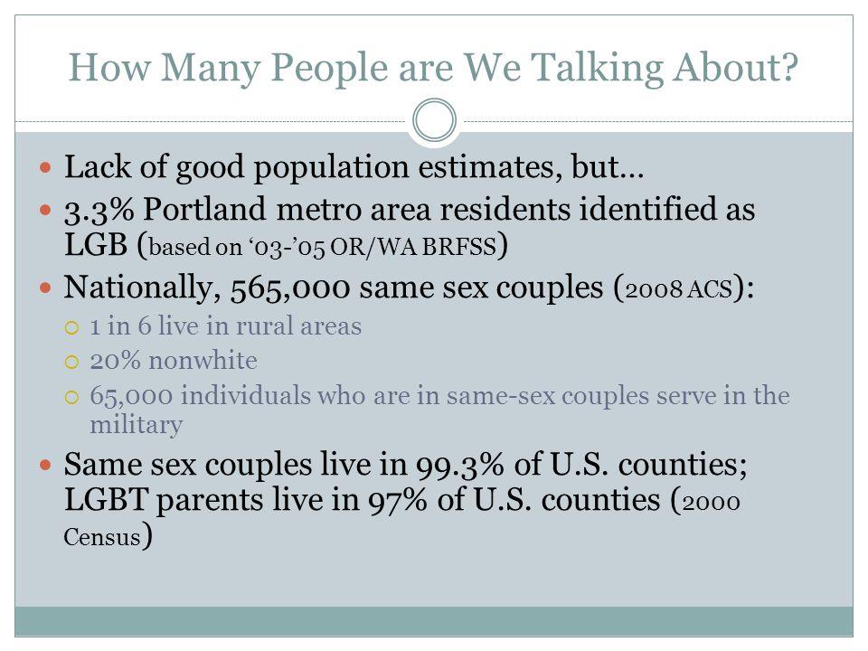 Fabulous Example of Population-Based Work, I Conron, Mimiaga & Landers.