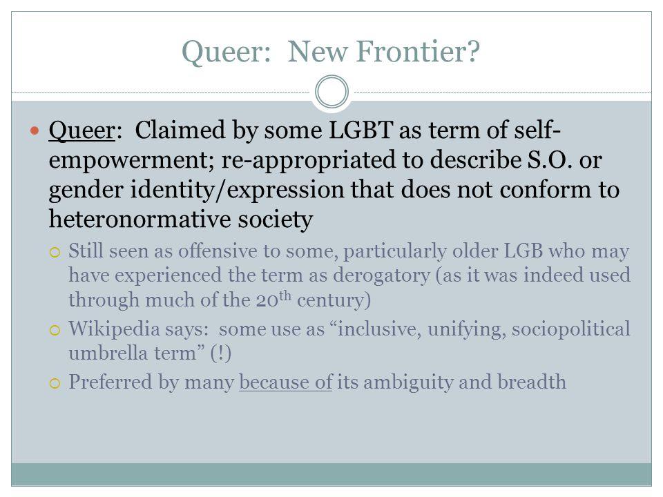 Queer: New Frontier.