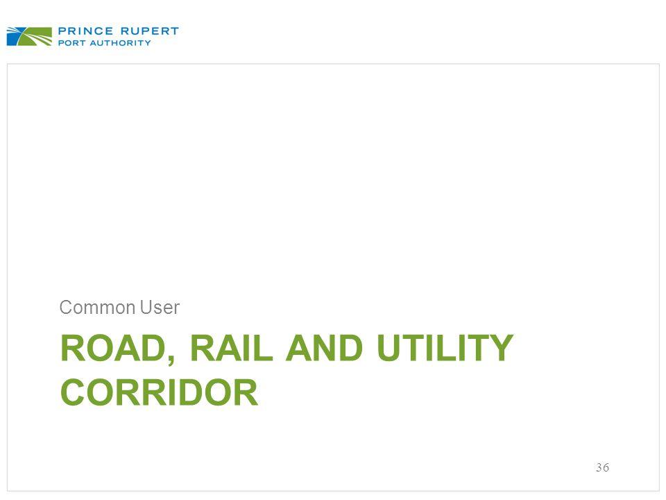 ROAD, RAIL AND UTILITY CORRIDOR Common User 36