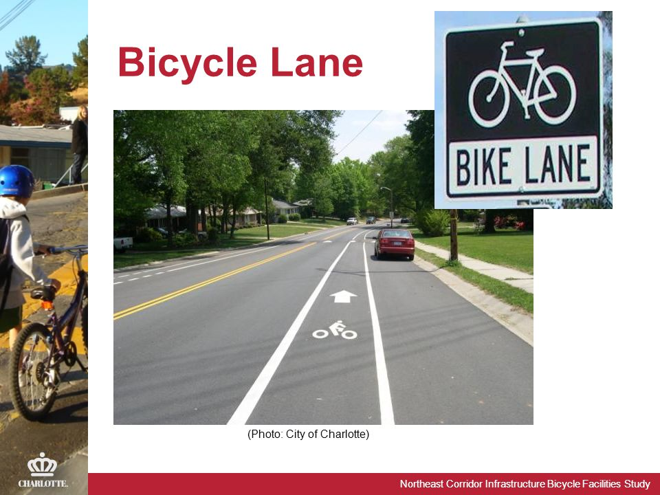 Northeast Corridor Infrastructure Bicycle Facilities Study Bicycle Lane (Photo: City of Charlotte)