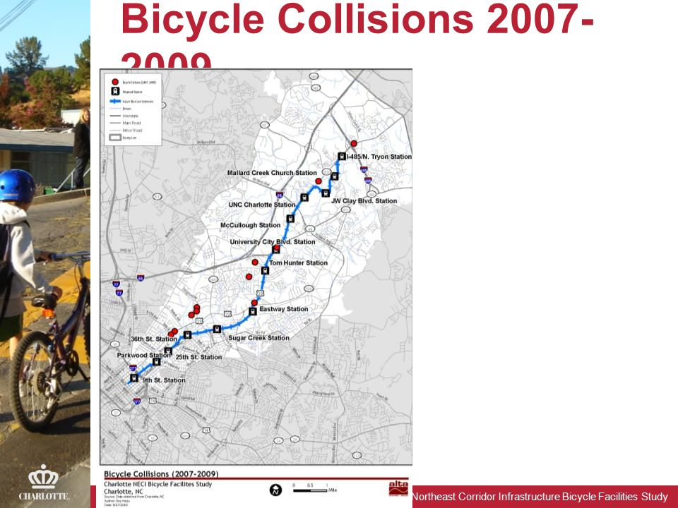 Northeast Corridor Infrastructure Bicycle Facilities Study Bicycle Collisions 2007- 2009