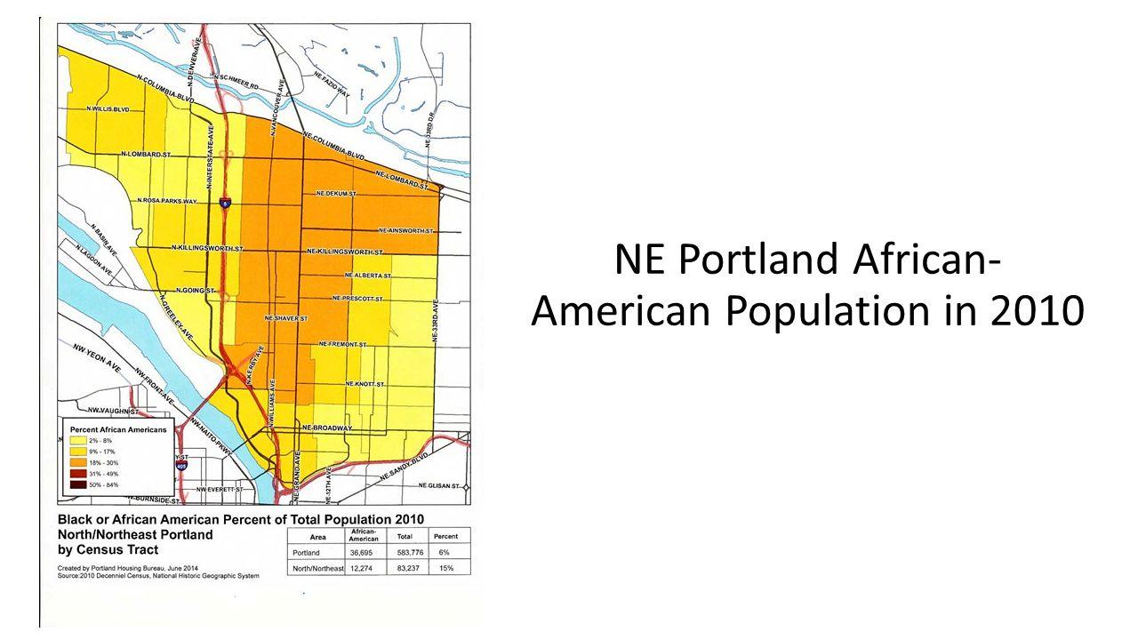 NE Portland African- American Population in 2010